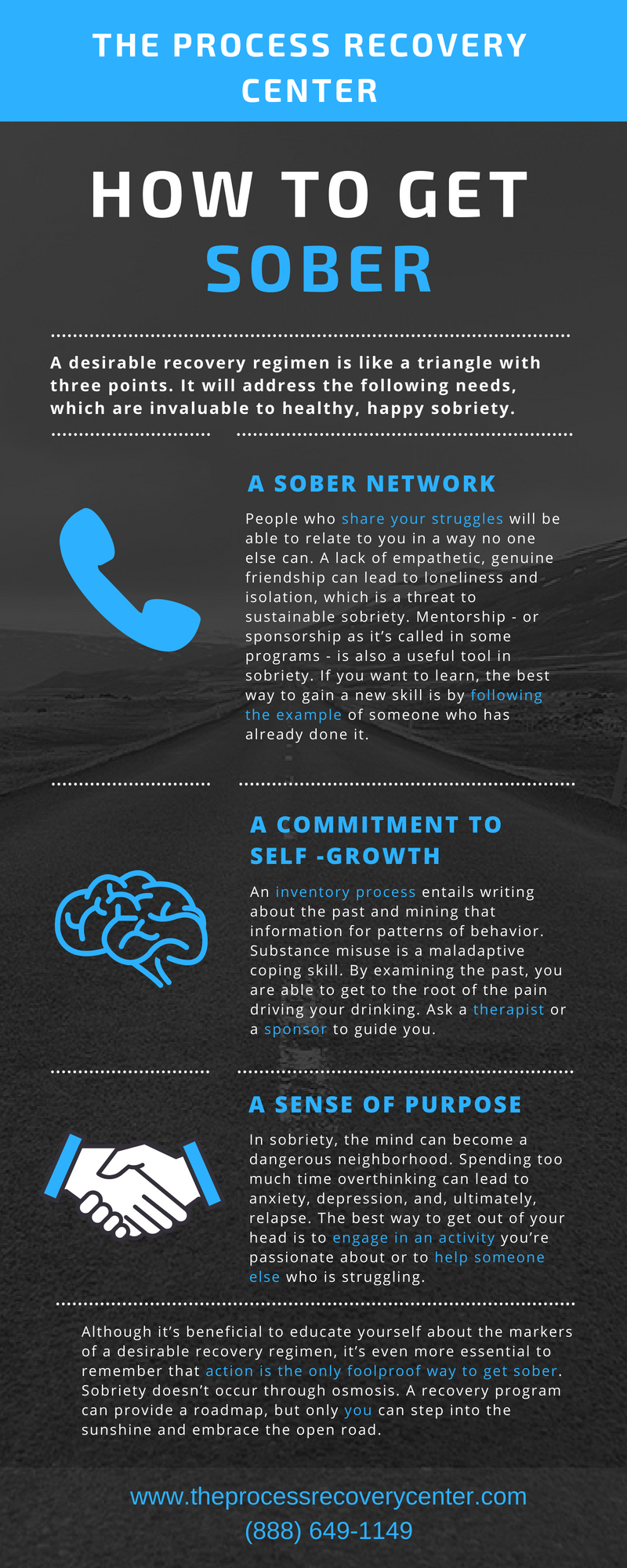 How to Get Sober Infographic