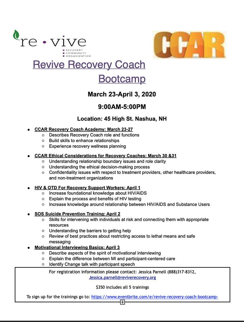 Recovery Coach Bootcamp